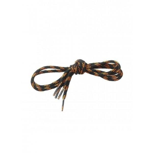 Lacet noir/orange 130cm